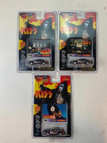 Lot of 3 KISS Gene Simmons Johnny lightning Diecast cars NEW