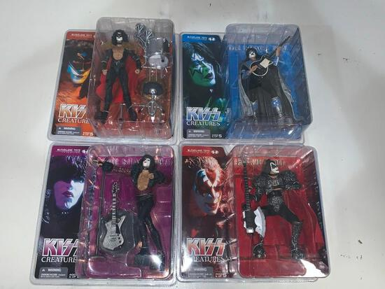 KISS Creatures 2002 McFarlane Action Figures FULL SET Paul Gene Ace and Eric NEW