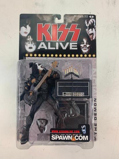 GENE SIMMONS THE DEMON With Amps KISS ALIVE McFarlane Super Stage Figure NEW