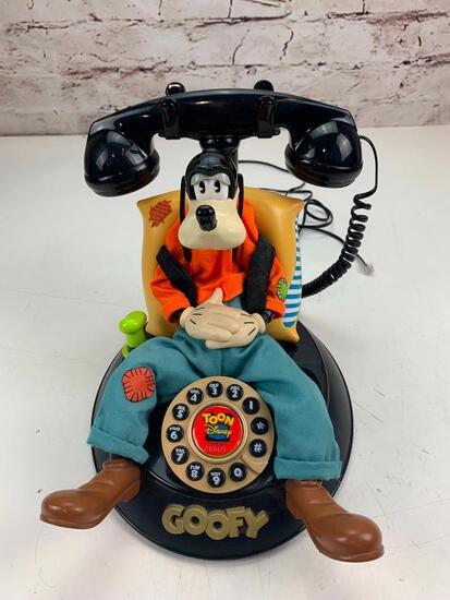 Vintage Disney Telemania Goofy Animated Talking Telephone Landline Phone