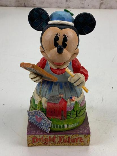 "Walt Disney Showcase Jim Shore Minnie Mouse Bright Future Teacher 8"" Figure"