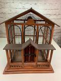Wood Design Bird Cage with bottom tray