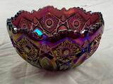 Vintage carnival glass Dish Bowl