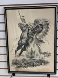 Vintage 1975 Bill O'Neill War Chief Framed Print