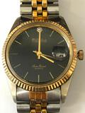 DuFante Lucien Pickard Men's Wrist Watch Gold tone and Stainless steel with adj Metal Latch Band
