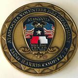 Challenge Coin Atascocita Harris County, Volunteer fire Department