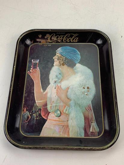 Vintage Drink Coca Cola Tin Metal Serving Tray Advertising Display Decor