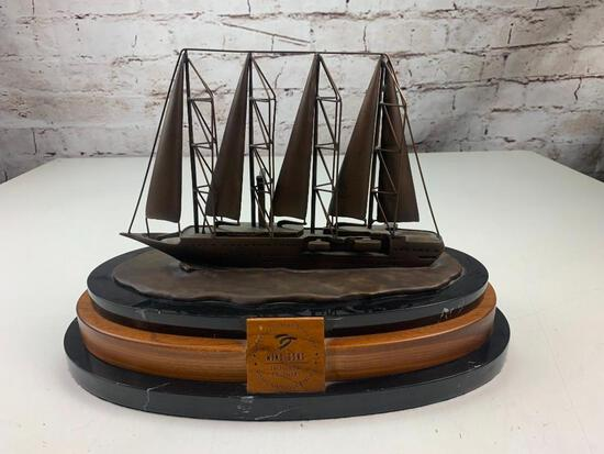 WIND SONG Beneficial Standard Life Great American Reserve 180 from Ordinary Brass Boat sculpture