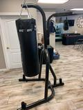 100lb heavy bag and speed bag fresh. Both on very same stand