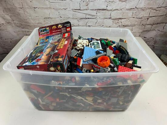 Full bin of 28 Lbs of Legos Building parts, blocks and more
