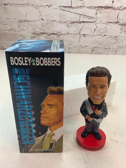 "Bosley Bobbers 2004 ARNOLD SCHWARZENEGGER California ""Governator"" Bobble Head Doll NEW in box"