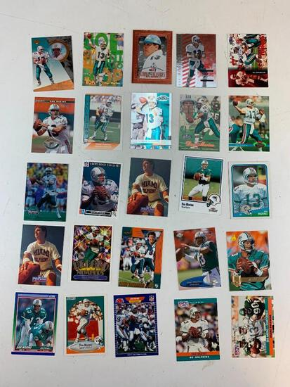 DAN MARINO Hall Of Fame Lot of 25 Football Cards