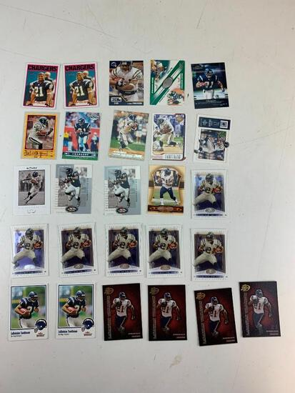 LADAINIAN TOMLINSON Hall Of Fame Lot of 26 Football Cards