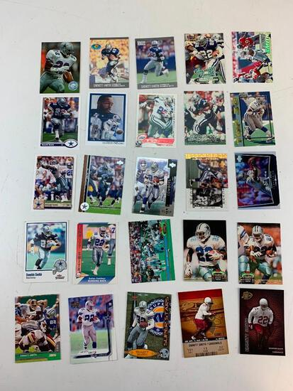 EMMITT SMITH Hall Of Fame Lot of 25 Football Cards