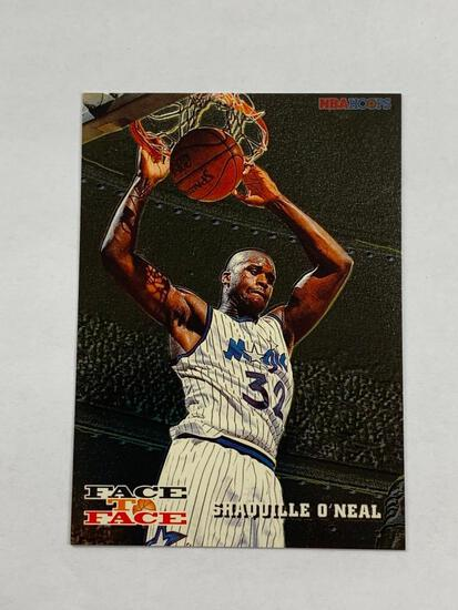 SHAQUILLE O'NEAL 1993-94 Hoops Basketball FACE TO FACE David Robinson Insert Card