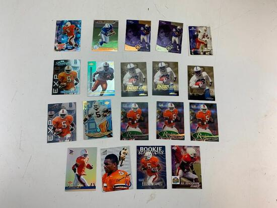 EDGERRIN JAMES Hall Of Fame Lot of 19 ROOKIE Football Cards
