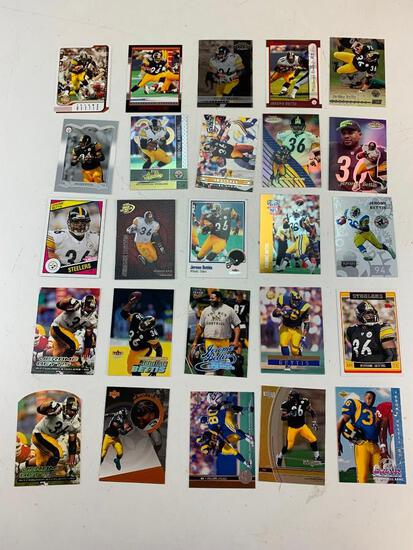 JEROME BETTIS Hall Of Fame Lot of 25 Football Cards with ROOKIE Card