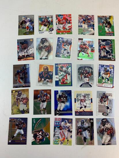 TERRELL DAVIS Hall Of Fame Lot of 25 Football Cards with ROOKIE Card