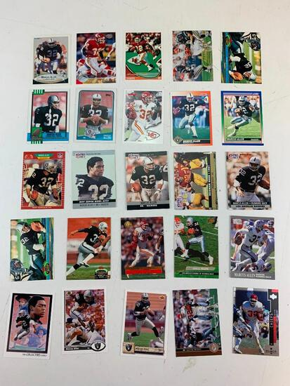 MARCUS ALLEN Hall Of Fame Lot of 25 Football Cards