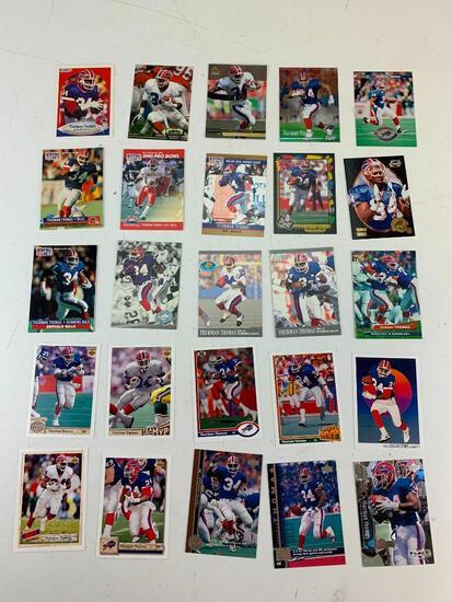 THURMAN THOMAS Hall Of Fame Lot of 25 Football Cards