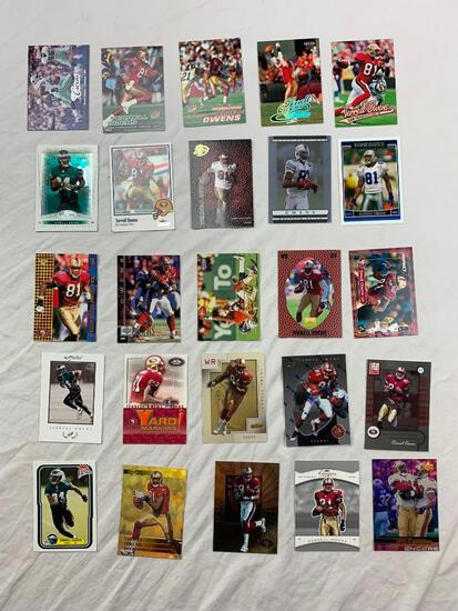 TERRELL OWENS Hall Of Fame Lot of 25 Football Cards