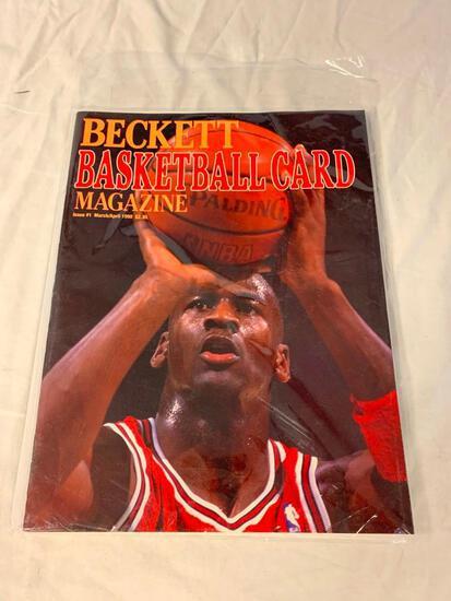 Beckett Basketball Monthly Magazine Issue 1 March/April 1990 Jordan / Ewing