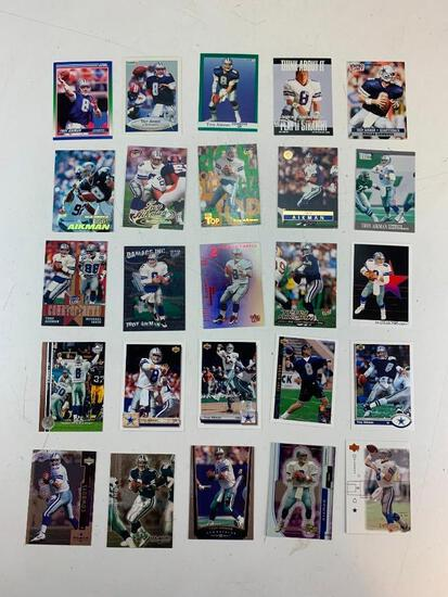 TROY AIKMAN Hall Of Fame Lot of 25 Football Cards