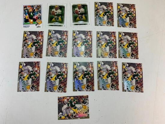 BRETT FAVRE Hall Of Fame Lot of 16 Football Cards