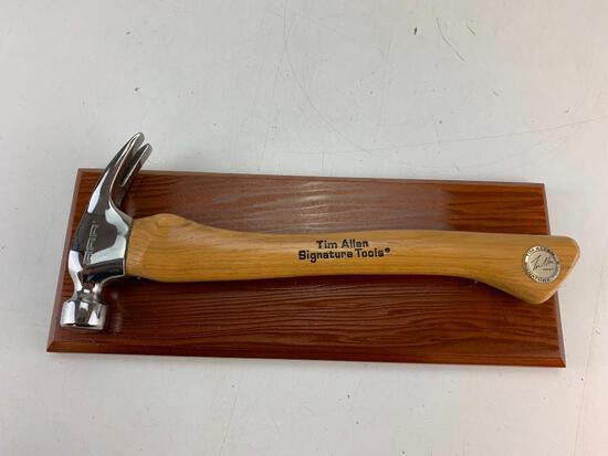 Tim Allen Signature Tools RRR Home Improvement Hammer with wall display