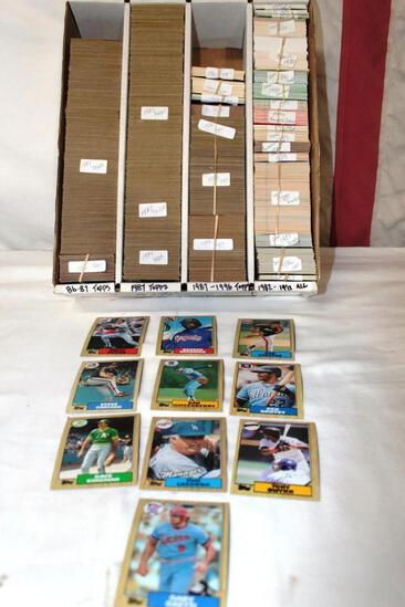 Lot of * MLB 1986-1996 TOPPS * 1982-1992 miscellaneous companies