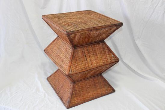Bamboo / Wood Side Table or Plant Stand