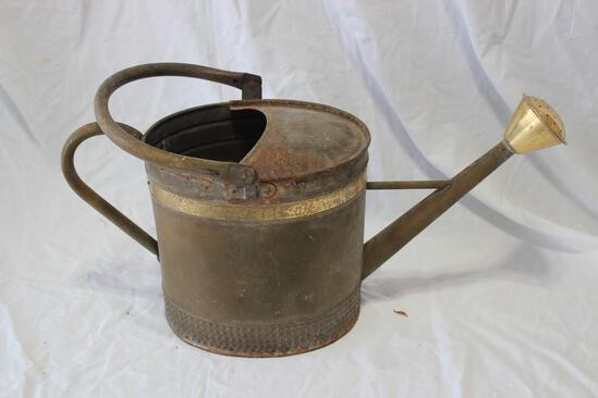 Large Copper and Brass Vintage Watering Can 23x17