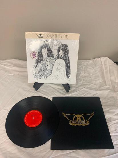AEROSMITH Draw The Line 1977 Album Vinyl Record Shrink Wrap with Hype Sticker