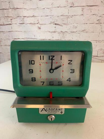 Vintage Acroprint Time Recorder Punch Time Clock