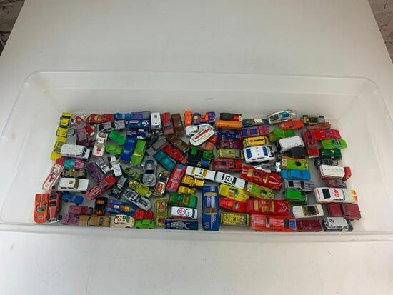 Lot of approx 100 Vintage Hot Wheels and other Diecast Cars