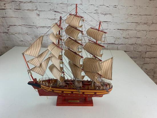 Vintage Wooden Cutty Sark Sailboat Ship Model