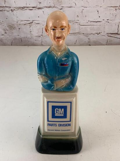 Vintage 1978 Mr. Goodwrench GM Parts Division Jim Beam Decanter