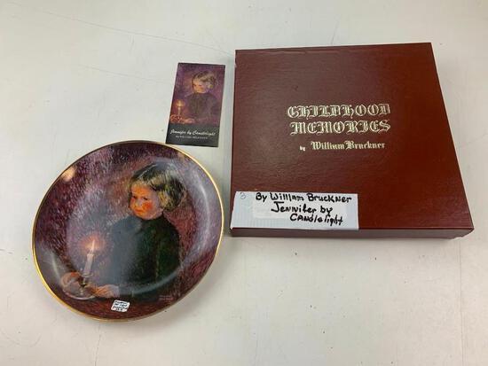 1978 Viletta China Vintage Plate William Bruckner Jennifer By Candlelight SIGNED