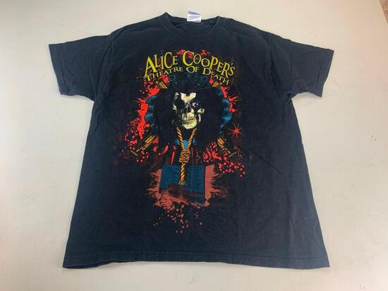 ALICE COOPER Theatre Of Death Music T-Shirt Size Large