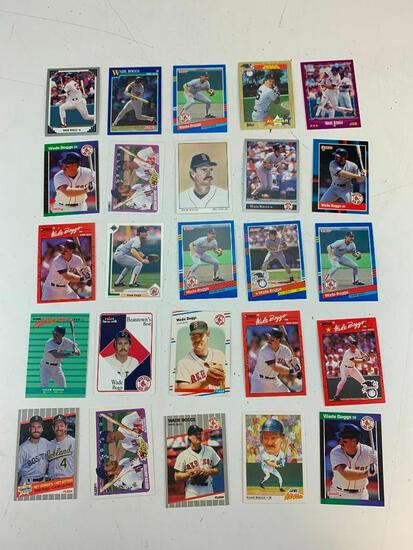 WADE BOGGS Hall Of Fame Lot of 25 Baseball Cards