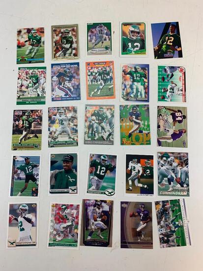 RANDALL CUNNINGHAM Lot of 25 Football Cards