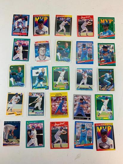GEORGE BRETT Hall Of Fame Lot of 25 Baseball Cards
