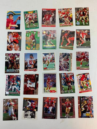 STEVE YOUNG Hall Of Fame Lot of 25 Football Cards