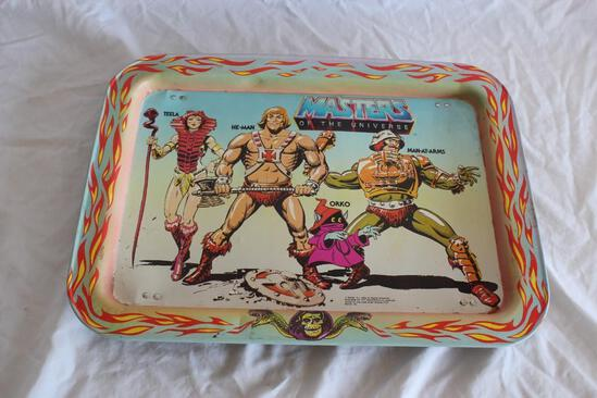 Genuine 1982 Masters Of The Universe Metal Serving Tray
