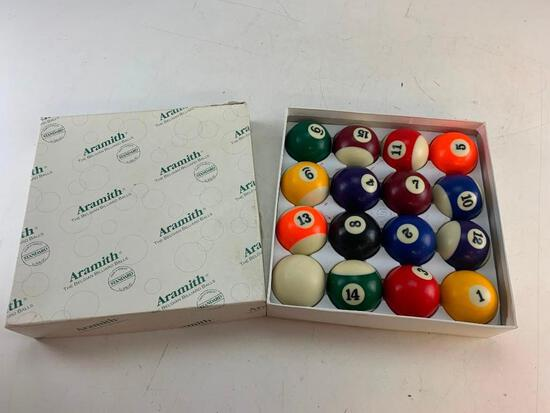 Genuine Belgian Aramith Crown Standard Pool/Billiard Ball Set Phenolic Resin with box
