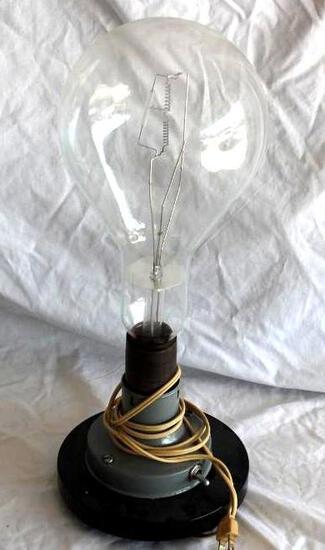 Vintage Huge Working Light Bulb With Base