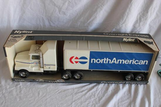 Rare Vintage Nylent North American Van Lines Semi and Trailer Mint in Box