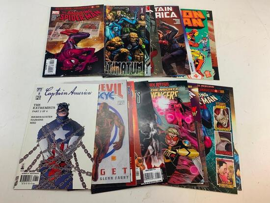 Lot of 18 MARVEL Comic Books-Iron Man, Spider-Man, Captain America and others