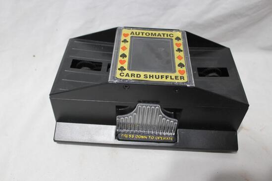 Vintage Automatic Card Shuffler uses AA