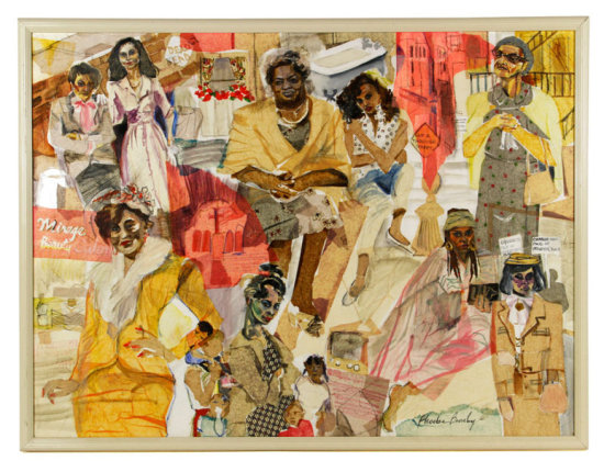 """Beasley, """"The Women of Brewster Place,"""" Collage"""